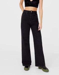 Черные джинсы с очень широкими штанинами в стиле 90-х Stradivarius-Черный