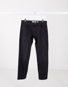 Черные зауженные джинсы Bershka-Черный