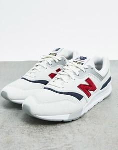 Белые кроссовки на массивной подошве New Balance-Кремовый
