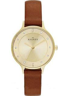Швейцарские наручные женские часы Skagen SKW2147. Коллекция Leather