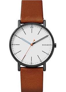 Швейцарские наручные мужские часы Skagen SKW6374. Коллекция Leather