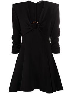 Versace расклешенное атласное платье