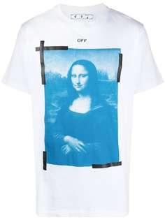 Off-White футболка с принтом Mona Lisa
