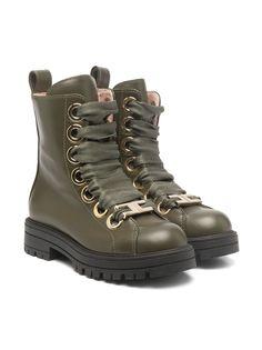 Elisabetta Franchi La Mia Bambina ботинки на шнуровке