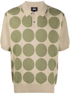 Stussy рубашка поло с геометричным принтом