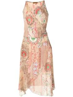 Kenzo Pre-Owned платье асимметричного кроя с абстрактным принтом