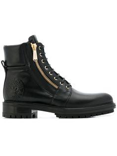 Balmain байкерские ботинки на шнуровке