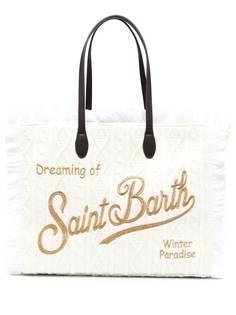 Mc2 Saint Barth сумка-тоут фактурной вязки с бахромой