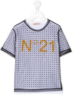 Nº21 Kids футболка с кристаллами и прозрачным слоем