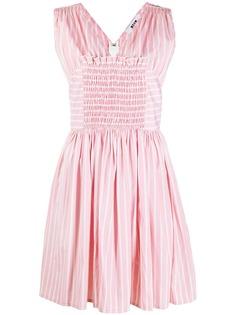 MSGM расклешенное платье в полоску