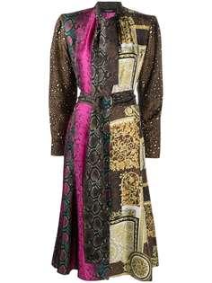 Versace платье миди с принтом