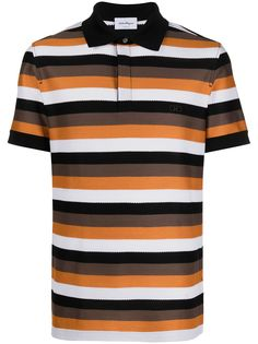 Salvatore Ferragamo полосатая рубашка поло с короткими рукавами