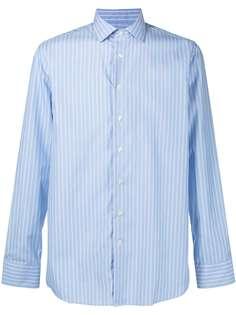 Etro полосатая рубашка с заостренным воротником