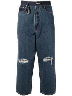 izzue джинсы с прорезями