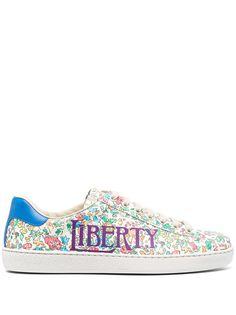 Gucci кеды Gucci Liberty с цветочным принтом