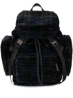 Emporio Armani бархатный рюкзак в клетку
