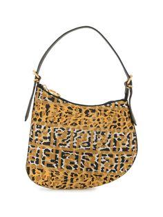 Fendi Pre-Owned сумка на плечо с леопардовым принтом и логотипом FF