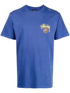 Stussy футболка с круглым вырезом и графичным принтом