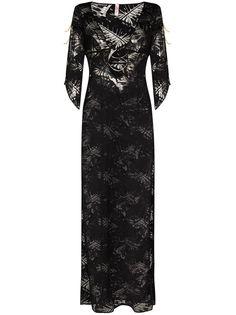 Agent Provocateur полупрозрачное пляжное платье Eileen
