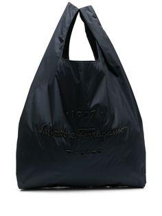 Salvatore Ferragamo сумка-тоут с тисненым логотипом