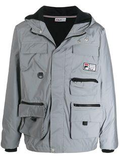 Fila куртка с карманами и светоотражающим эффектом