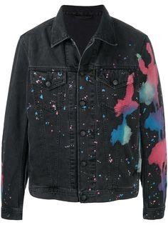 Diesel джинсовая куртка с принтом тай-дай