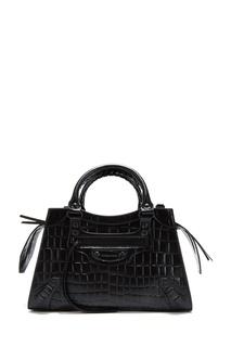 Кожаная сумка с крокодиловым принтом Neo Classic Balenciaga
