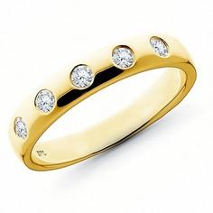 Кольцо из золота с бриллиантом э0301кц07130400 ЭПЛ Якутские Бриллианты
