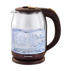 Чайник электрический STARWIND SKG1052, 1500Вт, коричневый и бронзовый