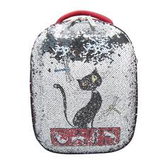 Школьные ранцы, рюкзаки, сумки Ранец Silwerhof Кошка красный С пайетками