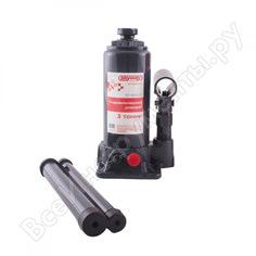 Гидравлический бутылочный домкрат skyway 3т h 175-335 мм с клапаном в коробке+сумка s01804010