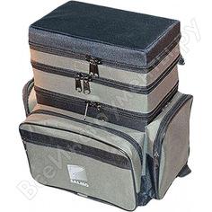 Рыболовный ящик-сумка-рюкзак salmo зимний пенопласт 3-х ярусный b-3 b-3lux