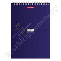 Блокнот brauberg 200 х290 мм, а4, 80л, гребень, картон, жесткая подложка, клетка, стиль, 129807