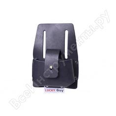 Кожаная сумка lucky guy для профессиональной рулетки, черный 03 0 03 004-02lg