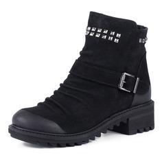 Ботинки Черные ботинки из велюра на меху Dakkem