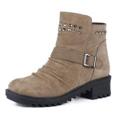 Ботинки Бежевые ботинки из велюра на меху Dakkem