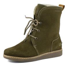 Ботинки Бежевые ботинки из велюра на шерсти Burgerschuhe
