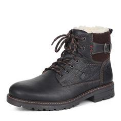 Ботинки Коричневые ботинки из комбинированных материалов на шерсти Rieker