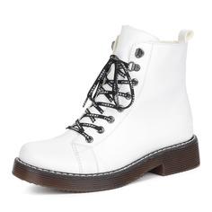 Ботинки Белые ботинки из экокожи на шерсти Rieker