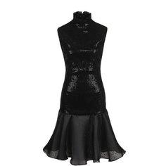Приталенное мини-платье с воротником-стойкой Giorgio Armani