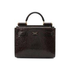 Сумка Sicily 62 mini из кожи питона Dolce & Gabbana