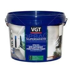 Краска водно-дисперсионная VGT моющаяся супербелая, 3 кг