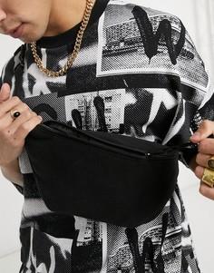 Флисовая сумка-кошелек на пояс черного цвета ASOS DESIGN-Черный цвет