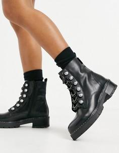 Черные массивные ботинки Kurt Geiger London Bax-Черный цвет