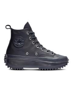Черные кожаные кроссовки Converse Run Star Hike-Черный