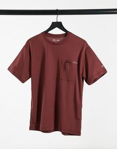 Спортивная футболка с карманом ASOS 4505-Красный