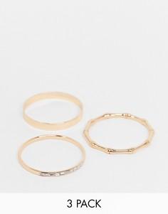Набор из 3 золотистых браслетов ALDO-Золотистый