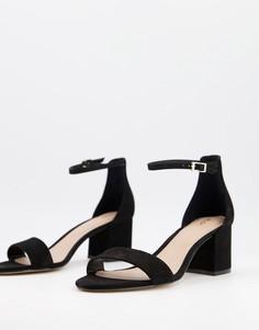 Черные туфли на среднем блочном каблуке Aldo-Черный