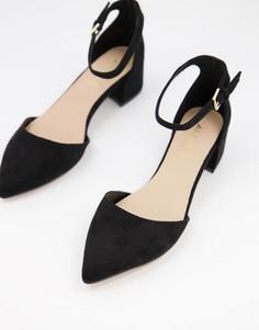 Черные туфли на среднем каблуке с острым носком Aldo-Черный
