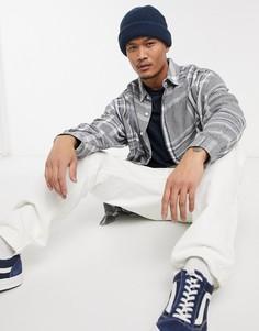 Рубашка в стиле super oversized в клетку голубого и серого цвета ASOS DESIGN-Серый